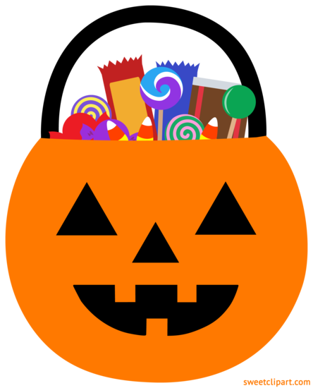 Halloween Pumpkin Pail With Candy