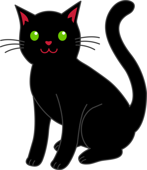 Black Halloween Cat Clip Art