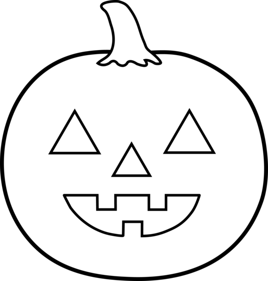 Black and White Colorable Halloween PumpkinHalloween Clip Art Black And White Pumpkin