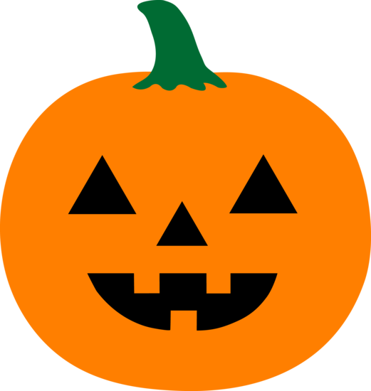 Orange Halloween Jack o Lantern