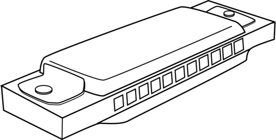 Harmonica Coloring Page