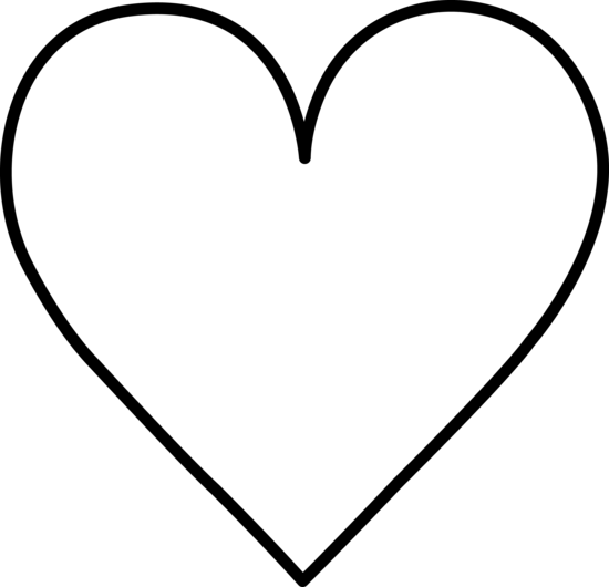 Line Art Heart Outline : Black and white heart free clip art