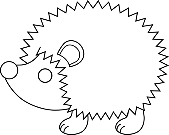 Line Drawing Hedgehog : Cute hedgehog line art free clip