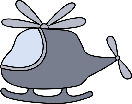 Little Gray Helicopter Clip Art