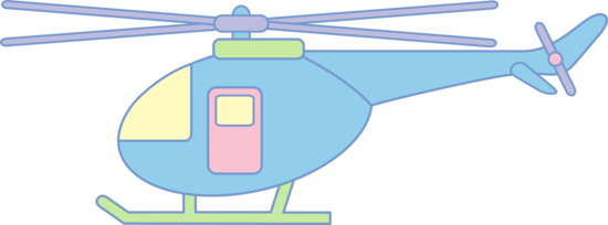 Cute Pastel Helicopter