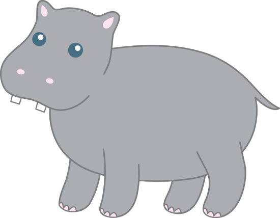 Cute Grey Hippo