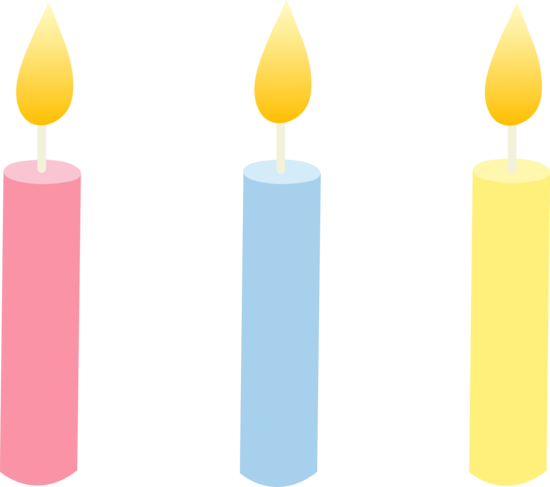 three pastel colored birthday candles free clip art rh sweetclipart com clip art candlelight clip art candle burning both ends