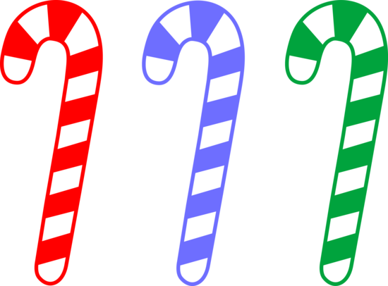 Set of Colorful Christmas Candycanes