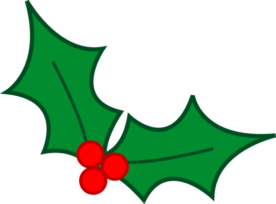 Green Christmas Holly Leaves Free Clip Art