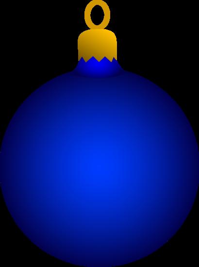 Round Blue Tree Ornament