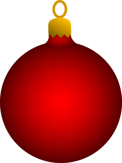Round Red Tree Ornament