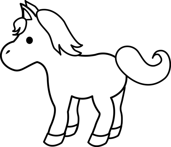 Cute Colorable Pony