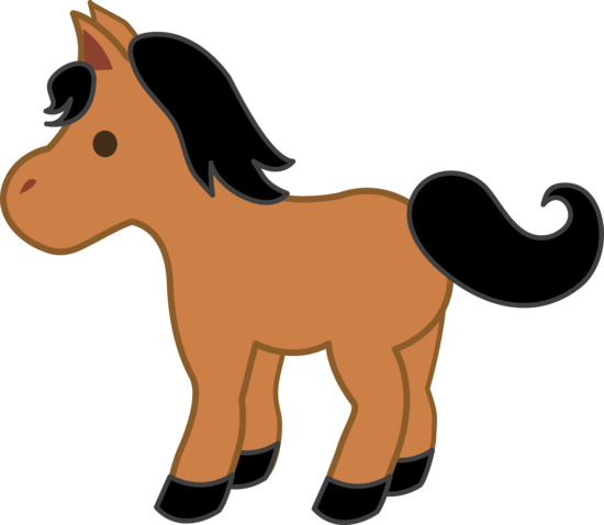 Brown Pony With Black Mane