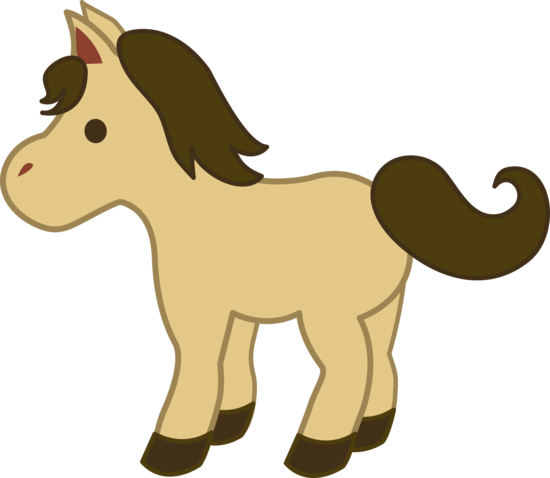 Beige Pony With Brown Mane