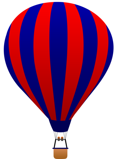Red and Navy Blue Striped Balloon