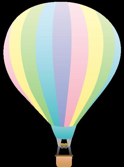 Pastel Rainbow Hot Air Balloon