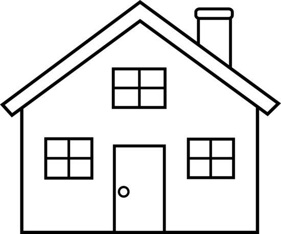 Line Art Images Of Houses : Little house line art free clip