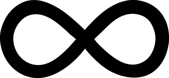 Black Infinity Symbol
