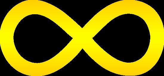 golden infinity symbol free clip art rh sweetclipart com double infinity symbol clip art