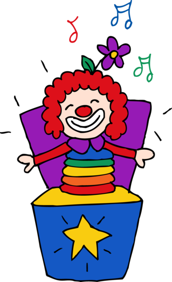 Cute Jack in the Box Clipart