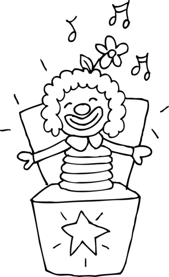 Jack-in-the-box Coloring Page