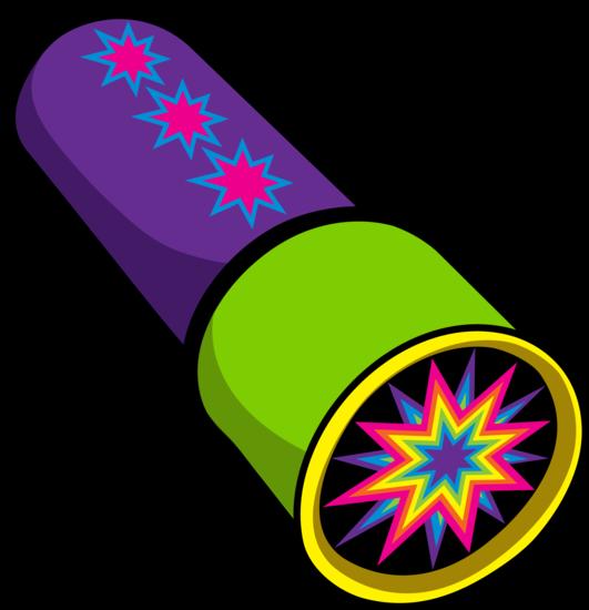 Neon Kaleidoscope Clip Art