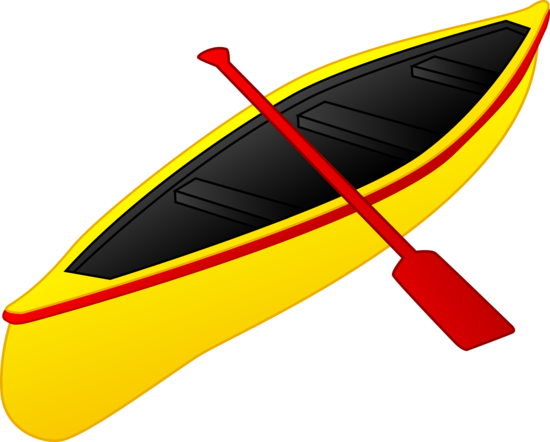 Yellow and Red Canoe