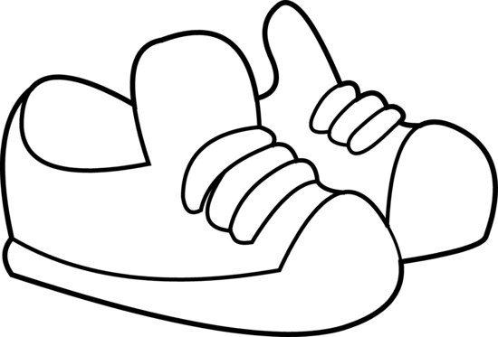 Kids Shoes Coloring Page