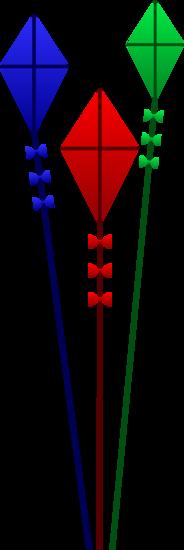 Three Colorful Kites