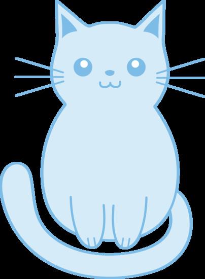 Cute Blue Kitten Clip Art Free