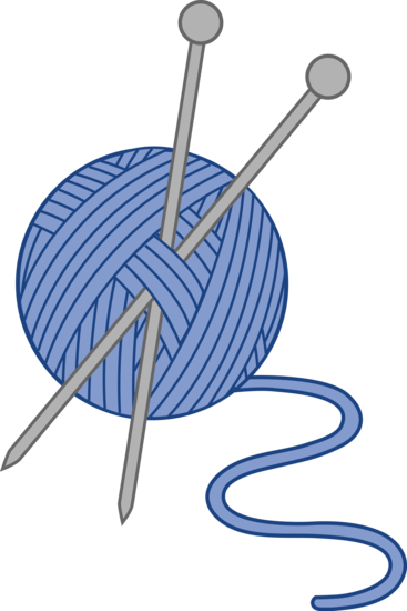 Blue Knitting Yarn