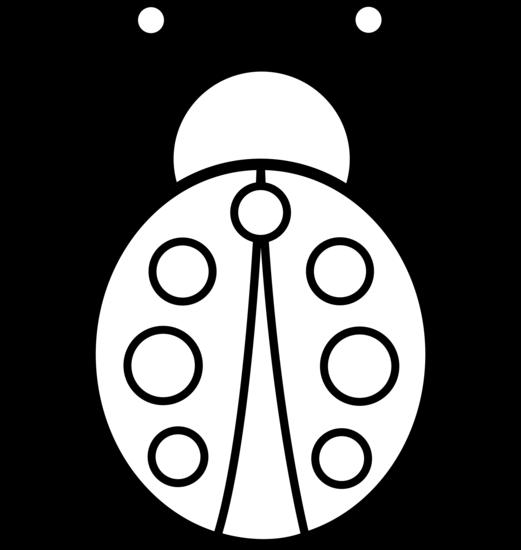 Ladybug outline clipart