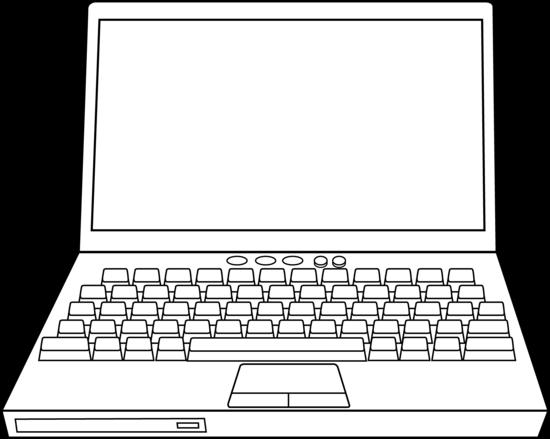 Line Art Laptop : Laptop computer line art free clip