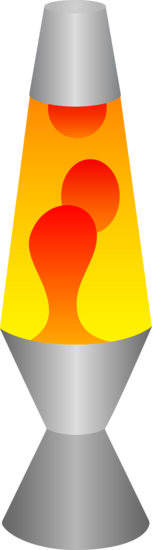 Red and Yellow Lava Lamp