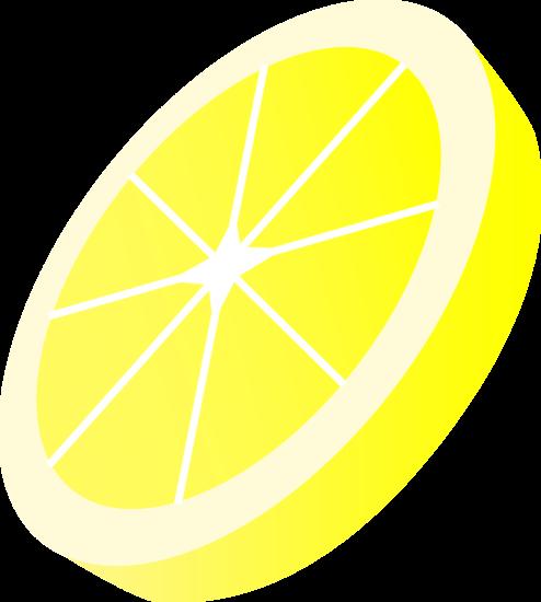 Circular Slice of Lemon