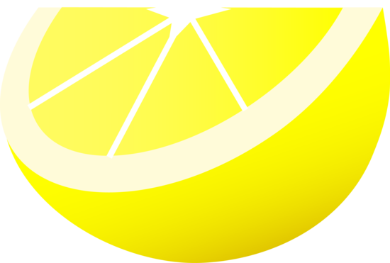 Bright Yellow Lemon Slice