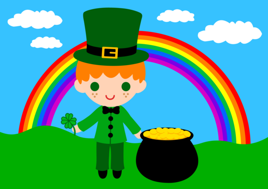 Cute St Patricks Leprechaun