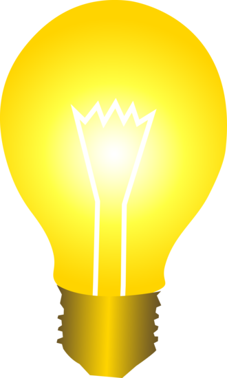 Idea Light Bulb Vector Clip Art
