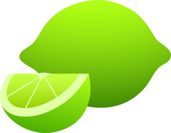 Whole Lime And Slice Free Clip Art