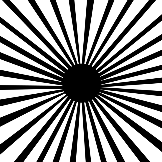 Black And White Line Designs : Black and white inverse line burst free clip art