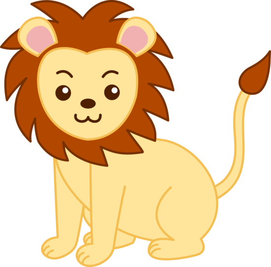 Little Yellow Lion Clip Art