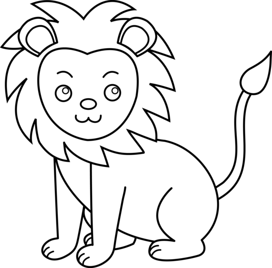Cute Colorable Lion