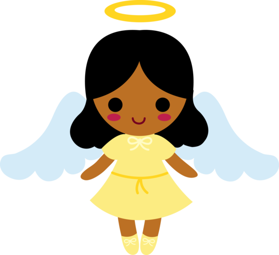 Cute Angel With Dark Complexion