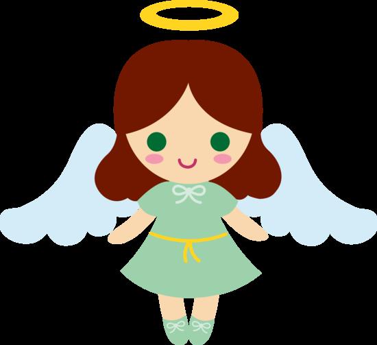 Little Brunette Angel Girl