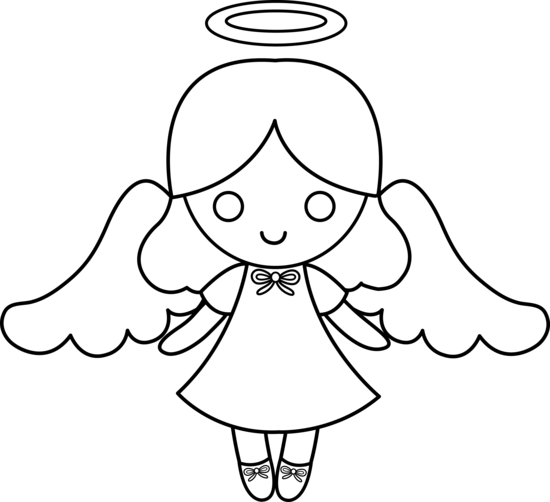 Cute Angel For Coloring