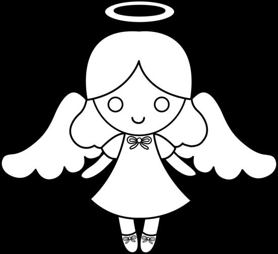 28 Angel Drawings Free Drawings Download: Cute Colorable Little Angel