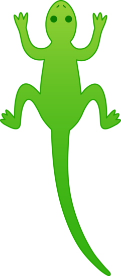 Cute Green Lizard