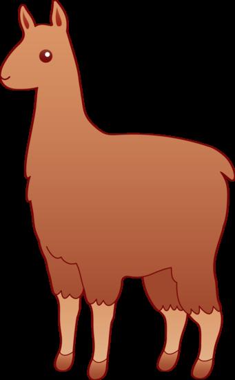 Cute Brown Llama