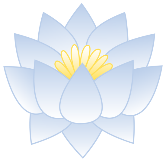 Bluish white lotus flower free clip art blue white lotus flower mightylinksfo