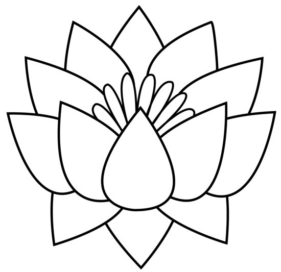 Line Art Flowers : Lotus flower line art free clip
